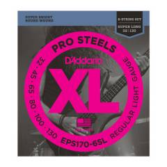 D'addario EPS170-6SL ProSteels 6-String Bass, Li