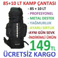 85+10 Lt Outdoor Da�c� B�y�k Boy S�rt �anta KAMP
