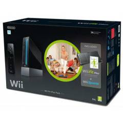 Nintendo Wii Siyah Konsol - Wii Fit Plus Bundle