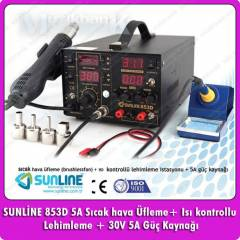 Sunline 853D+5A 3 IN 1 Istasyonu 5 A G�� Kayna��