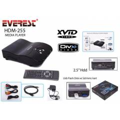 EVEREST HDM-255 2.5inc SATA MEDYA OYNATICI
