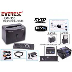 EVEREST HMD-355 2.5-3.5 SATA MEDYA OYNATICI+DOCK
