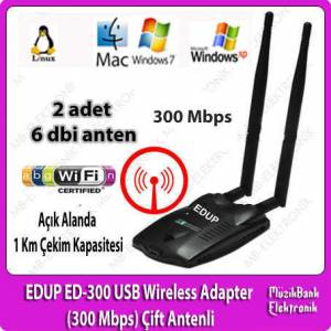 EDUP ED-300 USB Wireless Adapter (300 Mbps) �ift
