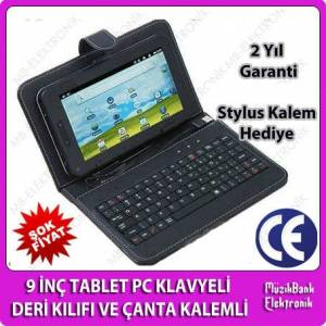 9'' TABLET PC KLAVYEL� DER� KILIFI VE �ANTA