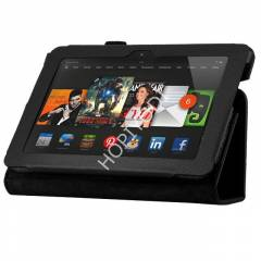 Amazon Kindle Fire K�l�f Deri Standl� Siyah