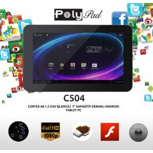 "Poly Pad C504 4GB 7"" Andro�d 4.0 Tablet PC"