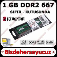Kingston 1 GB DDR2 667 MHZ RAM Kutulu - S�f�r