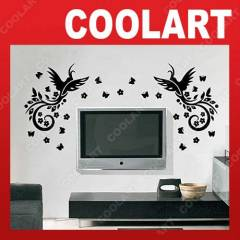 COOLART Duvar Sticker Ku� ve Kelebek (st101 )