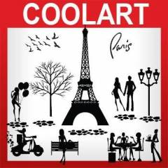 COOLART Duvar Sticker Paris (st325)