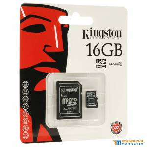 KINGSTON 16GB MICRO SD HAFIZA KARTI + SD ADP.