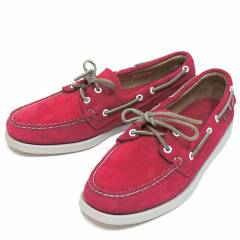 Sebago Mens Casual Shoes Docksides Red Suede