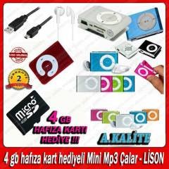 4 GB HAFIZA KART HED�YEL� Mini Mp3 �alar- L�SON