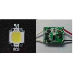10 W 10 WATT COOL WHITE POWER LED + LED S�R�C�
