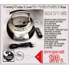 SKYTECH  USB-SD CARD-MP3-CD-KASET �ALAR-RADYO