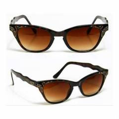 LEOPAR CAT EYE TARZ G�NE� G�ZL��� RETRO V�NTAGE