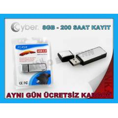 SES KAYIT C�HAZI 8 GB USB BELLEK FLASH D�SK 8GB