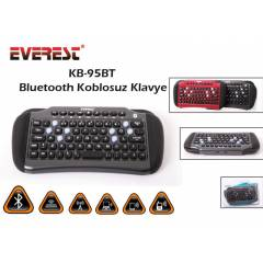 Everest KB-95BT Gri Bluetooth Kablosuz klavye
