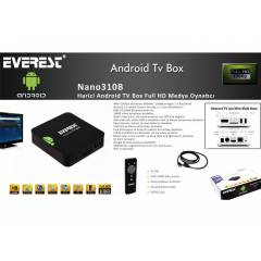 Everest Nano310B Harici Android TV Box Full HD M