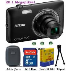 Nikon s3500 20.1MP HD 7X ZOOM Foto�raf Makinesi