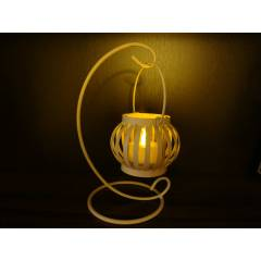 Otantik Metal Masa Mumluk �amdanl�k  Tea Light