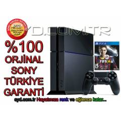 SONY PS4 500 GB + F�FA 2014 + 24 AY EURASIA GARA