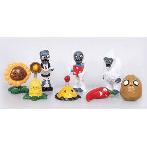 Plants vs Zombies 8 adet set fig�r oyuncak