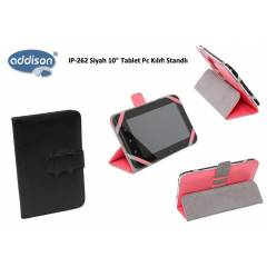 Addison IP-262 Siyah 10 Tablet Pc K�l�f� Standl�