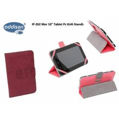 Addison IP-262 Mor 10 Tablet Pc K�l�f� Standl�