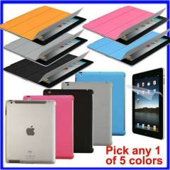 ipad 4 KILIF smart cover+ arka rubber koruma set