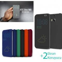 HTC One M8 K�l�f Dot View K�l�f