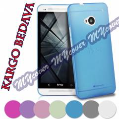 HTC One M7 K�l�f Ultra ince 0.2 mm Kapak