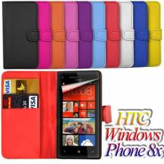 HTC Windows Phone 8X K�l�f deri c�zdan +3xFilm