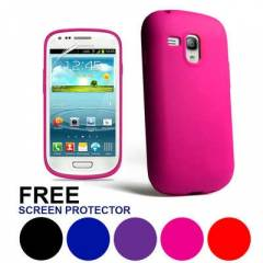samsung galaxy S3 mini k�l�f soft silicone+film