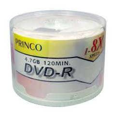 PRINCO DVD-R 4.7GB 16X BO� DVD 50 ADET