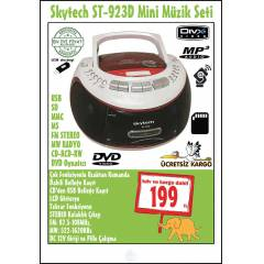 DVD- USB-SD CARD-MP3-CD-KASET �ALAR-RADYO