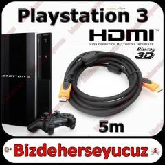 5m Hdmi Kablo v1.4 3D Sony PS3 Playstation 3