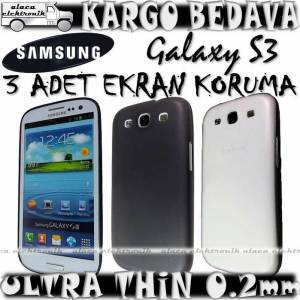 �9300 GALAXY S3 KILIF 0.2mm ULTRA �NCE + 3x F�LM