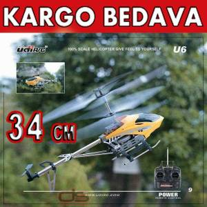 U6 3.5 KANALLI GYROSCOPE METAL RC HEL�KOPTER
