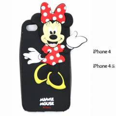 IPHONE 4-4S S�L�KON CEP TELEFONU KILIFI-MINNIE