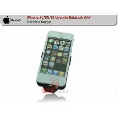 Apple iPhone 5S/5G/5C Uyumlu  Bataryal� K�l�f