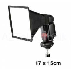 Tepe Fla� Flash i�in 17x15cm Softbox Yumu�at�c�