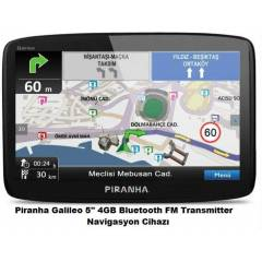 "Piranha Galileo 5.0"" 4GB Bluetooth Navigasyon"