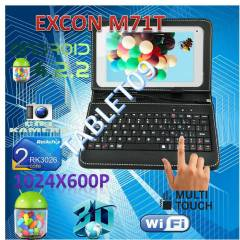 Excon �ift �ekirdek Tablet Pc+Klavyeli K�l�f+DVD