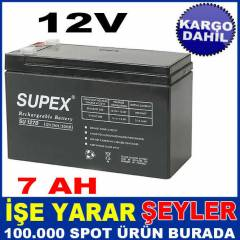 SP-127 SUPEX BATARYA KURU AK�12V 7AH SUPEX KD