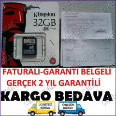 Kingston 32GB SDHC (CLASS4)HAFIZA GARANT�-FATURA