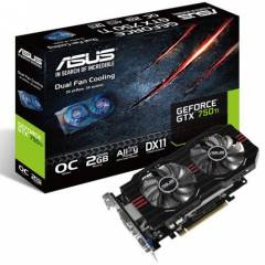 ASUS GEFORCE GTX750TI-OC-2GD5,  2 GB, GDDR5,