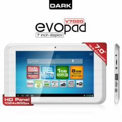 "Dark EvoPad V7020 7"" �ift �ek. Tablet PC OUTLET"