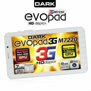 Dark EvoPad M7220 3G SIM �ift �ek Tablet(OUTLET)