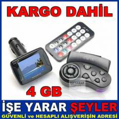 4GB ARA� FM TRANSMITTER MP4 ��FT KUMANDA K�T� KD