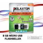 8 GB M�CRO USB FLASHBELLEK POLAXTOR